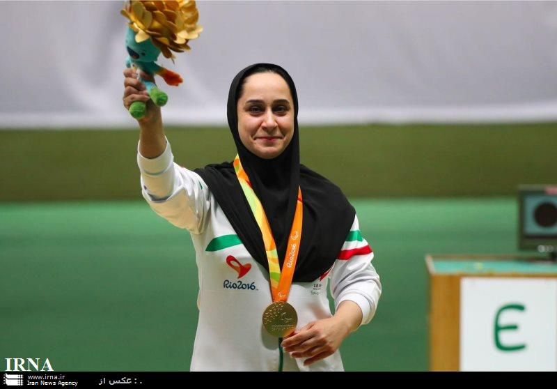 Iranian shooter auctions her gold medal for Iran quake victims