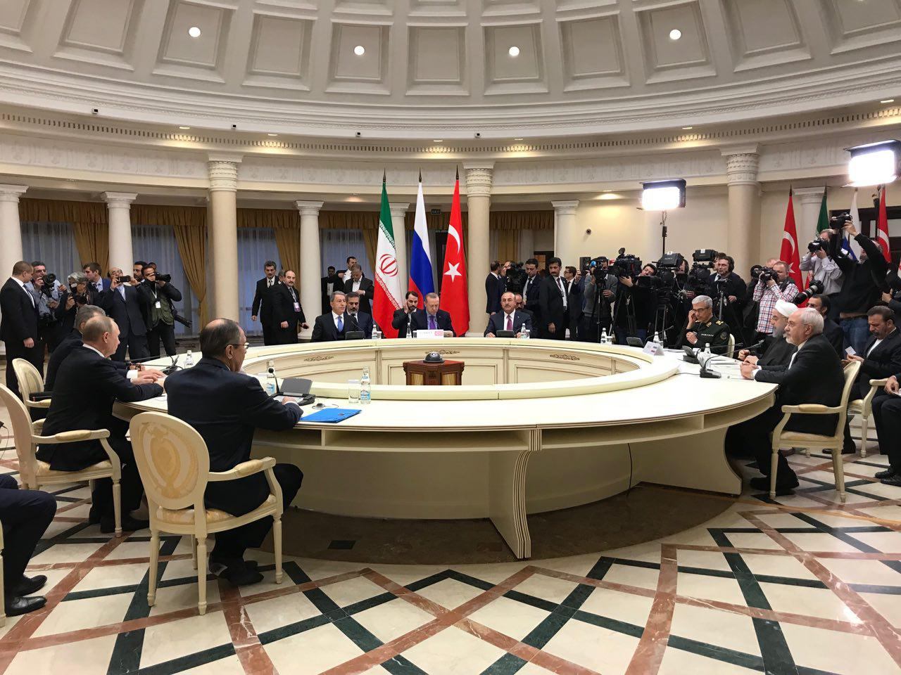 Iran, Russia, Turkey call for unity, independence of Syria