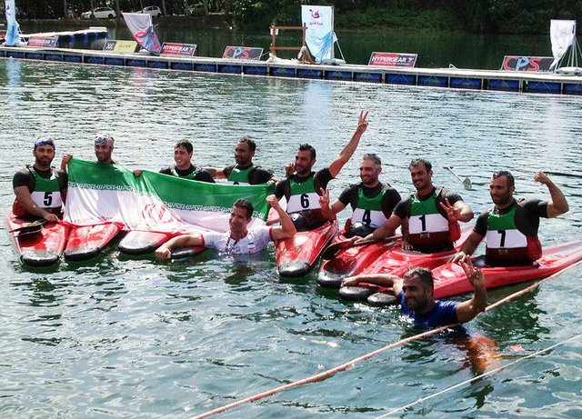 Iranian canoe polo champion dedicates medal to victims of Iran quake