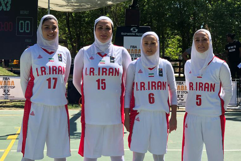 Iranian females 1st in West Asia 3×3 basketball