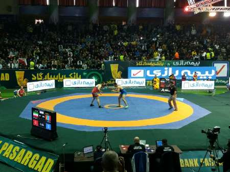 Iranian squad at final stage of Freestyle Wrestling World Cup