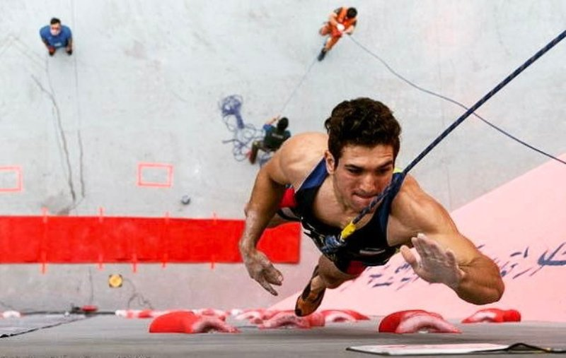 Iranian rock climber wins 2017 China Open