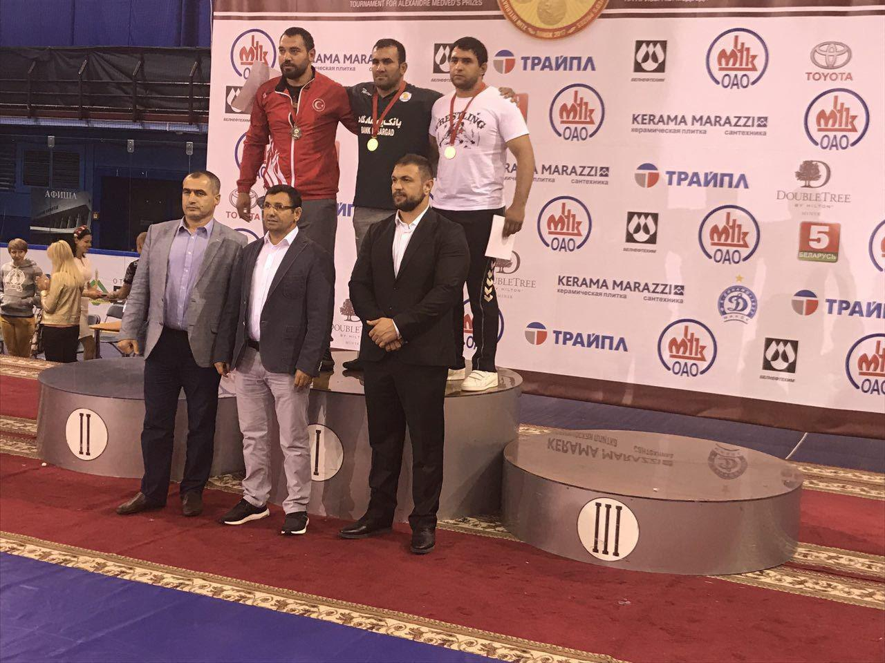 Iran snatches 2 golds in Belarus Medved 2017 wrestling competitions