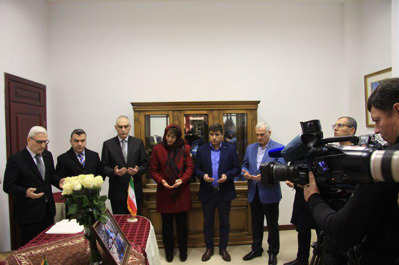 Iran mission in Belarus opens memorial book for victims of quake