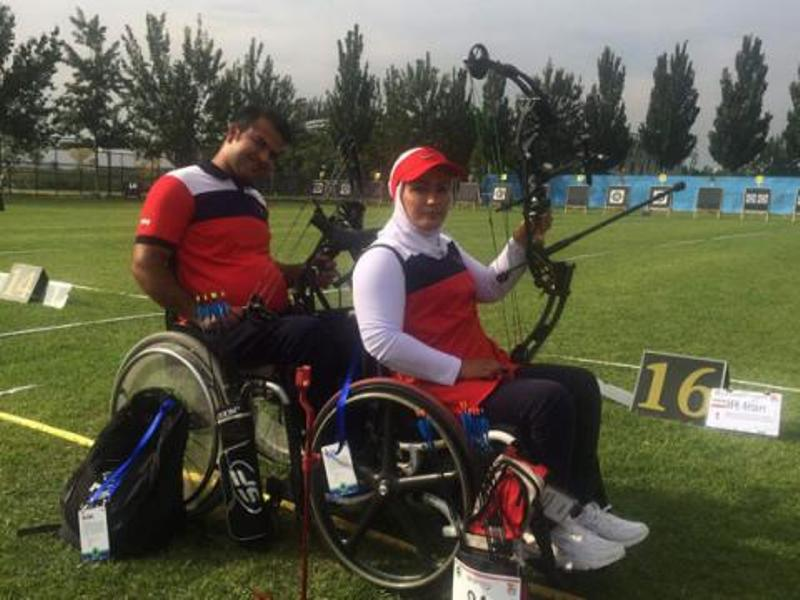 Iran's archery pair ranks 2nd in Beijing para champs