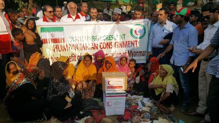 First humanitarian aids consignment distributed in Rohingya camps